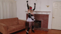 Bound and Gagged - Blindfolded French Maid Bound and Gagged for Vibrator Orgasm - Lorelei