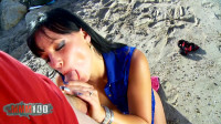 Brunette With Small Tits Gets Fucked On The Beach (1080)