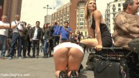 Big Tit Spanish Supermodel Bound & Dragged Through Madrid City Center