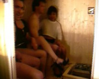 Groupie in a sauna