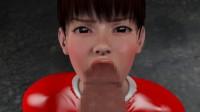 Rape miserably heroine of Red Girl vs. Monster