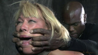 Booming Mellanie Monroe made to worship BBC, punishing deep throat, bound and fucked without mercy!