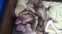 Big Black Cock Destroys Two Hot Slaves