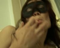 Mysterious babe masturbating
