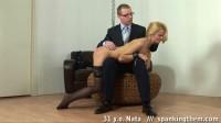 Sexy teacher gets spanked