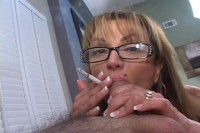 Older women suck dick and smoke