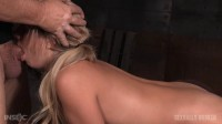 Bubbly blonde Madelyn Monroe bound doggy style and taken from both ends by big dick!