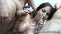 Watering from his mouth men hoses