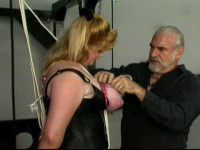 Would you enjoy seeing Sapphire riding a sex machine wearing very heavy nipple clamps
