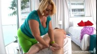 Maria Moore and Samantha 38G   Massaging Maria Moore