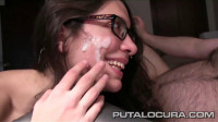 Fit girl with glasses fucks hard