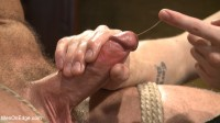 Hot KinkMen fan gets the full treatment as he's bound & aching to cum