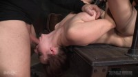 Busty Bella Rossi BaRS show grand finale with strict metal bondage and epic 3 cock dickdown!