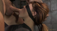 Sexy redhead Jessica Ryan completely mummified and vibrated