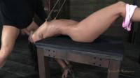 Her legs raised!