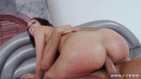 Brunette Girl Gets Massage Oil All Over Her Nice Butt