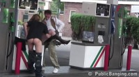 Pregnant girl fucked at a gas station