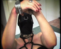 SlaveM  / clip4sale - Suspended slaves, and thrust her pussy hook