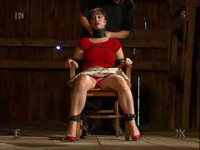 Download - Slave bondaged in chair