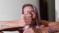 Brazilian amazon beauty Rafaella Ferrari jerks off her lover - HD|1080p