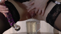 Sexy Dildo Masturbation While Shitting