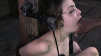 Tiny Tegan Tate Is Bound Endures An Amazing Throat Fucking By 2 Big Cocks!