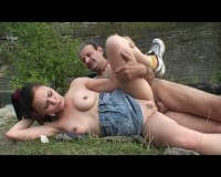 Outdoor fuck for the college chick