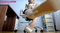 Humiliation POV – Miss Honey Barefeet Worship My Heels Or You're Fired