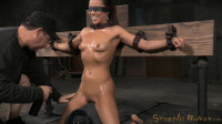Natural born sexbot Kalina Ryu throatboarded into drooling deepthroat