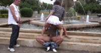 Fountain Threesome