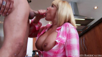 Busty Mommy Rides Hard Cock