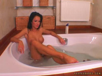 Elegant beauty Pocahontas pee in front of camera - Peeing HD