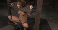 Savannah In Stocks Stuck On Sybian With Massive Multiple Orgasms