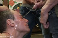 Download Studly shoplifter gets an eggplant up his ass and a face full of cum at a fruit stand.