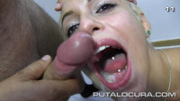 White slut fed with sperm