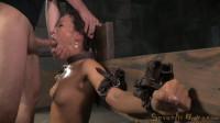 Natural born sexbot Kalina Ryu throatboarded drooling deepthroat sybian orgasms! (2015)