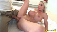 Sexy Blonde Sucked On His Dick and Got Her Huge Tits Fucked