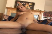 Young Chocolate Babe Bent Over Doggy