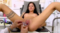 Silvia Dellai (22 years girls gyno exam)