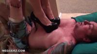 Sarah Diavola and Princess Meggerz — Trample Slave In Heels