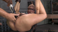 Huge beasted Rain DeGrey restrained in strict bondage, ASS fucked hard and bred by 2 big dicks!