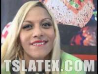 Hung Latex Clad TS Karla Desejo