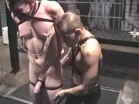 Master Johnny Bondi displays his expertise with newcomer Tom Wills