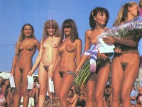 Retro and nudist beauty contests
