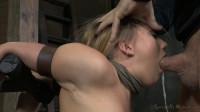 AJ Applegate shackled and blindfolded, facefucked! Mar 31, 2014