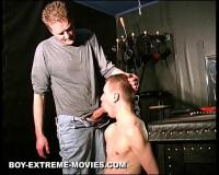 Amateur Slave extreme CBT, heavy Paddling