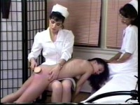 Binky is spanked by each nurse in turn, has her rectal temperature taken