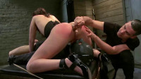 Slave training for a cute brunette 3 of 4