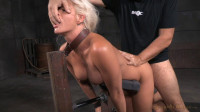 Busty blonde Holly Heart shackled down doggystyle roughly fucked with epic deepthroat! (2015)