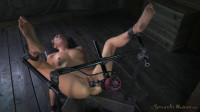 Roxy Rox bound and drilled down by relentless fucking machine